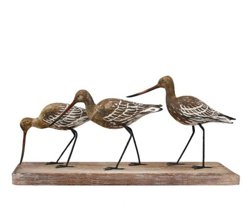 D146 Godwit Block Archipelago Handcrafted Wooden Bird Sculpture Fair Traded | Avant Garden