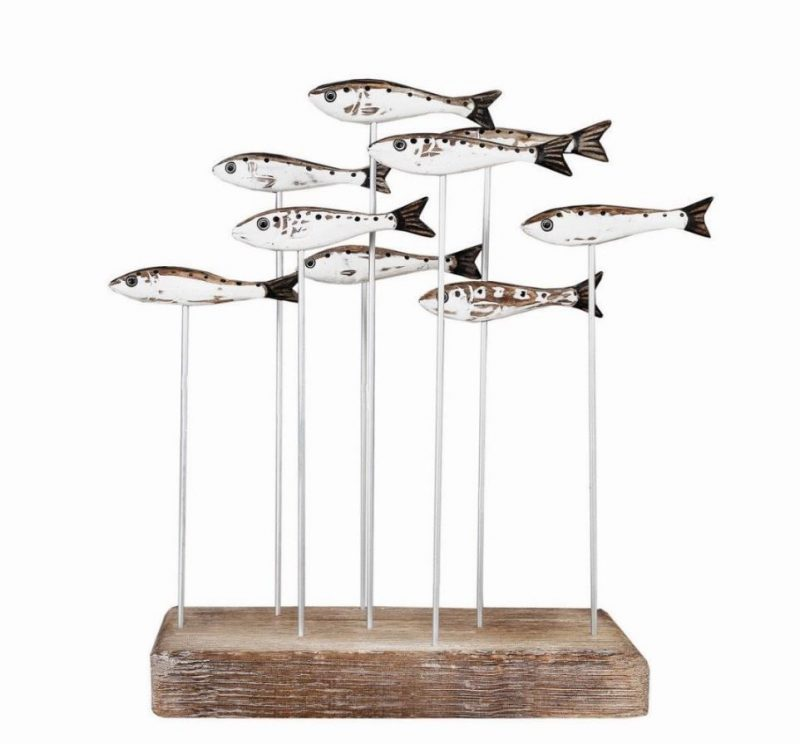 Sardine Shoal Wooden Sculpture Christmas gift