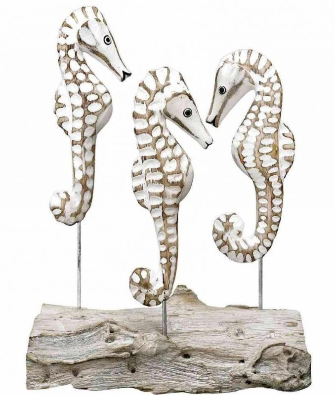 Archipelago Sea Horse Wooden Sculpture gift