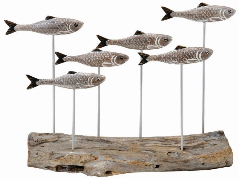 Archipelago Herring Shoal Wooden Sculpture
