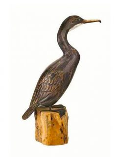D273 Archipelago Low Cormorant Wooden Bird Sculpture 47cm High 1 | Avant Garden