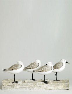 D329 Archipelago Bird Sanderling Block Wooden Sculpture | Avant Garden