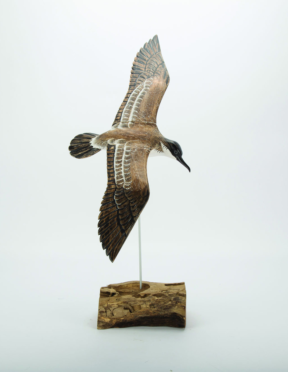 Archipelago bird shearwater wooden sculpture fair traded avant
