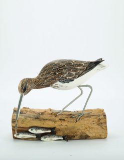 D379 Archipelago Curlew Fishing Wooden Bird Sculpture 1 | Avant Garden