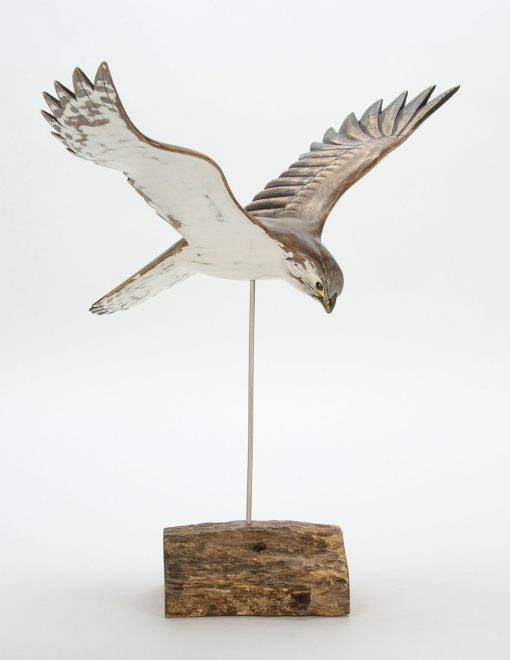 D382 Archipelago Kestrel 40cm Hand Carved Wooden Bird Sculpture | Avant Garden