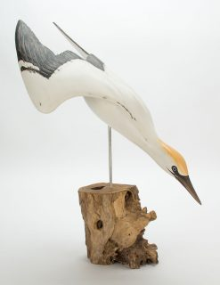 D384 Archipelago Gannet Diving Bird Wooden Sculpture 1 | Avant Garden