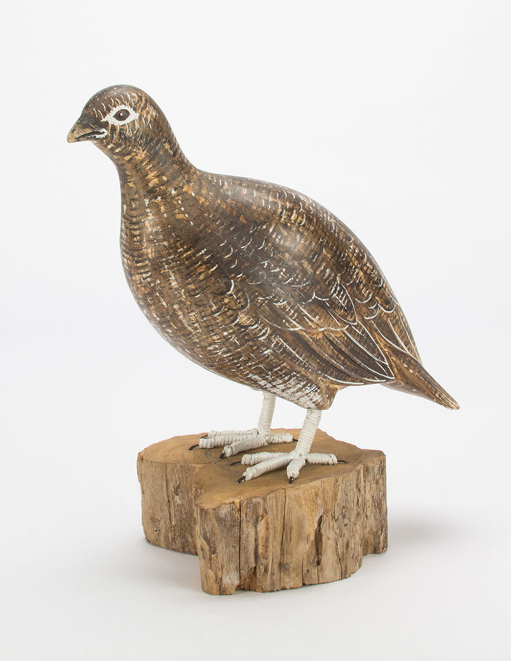 D388 Archipelago Grouse Female Wooden Bird Sculpture | Avant Garden