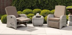 Relax Armchair Coffee Table Suite All Weather Cushions