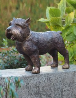 Bronze Sculpture Dog Yorkshire Terrier