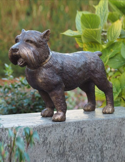 DO 10 Fine Cast Bronze Sculpture Dog Yorkshire Terrier 1 Avant Garden Guernsey