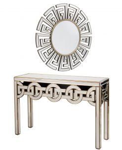 Libra Company Claridge Art Deco Style Console and Matching Mirror | Avant Garden Guernsey