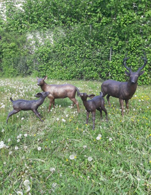 WI 68 Bronze Sculpture Deer Family Mix 1 | Avant Garden