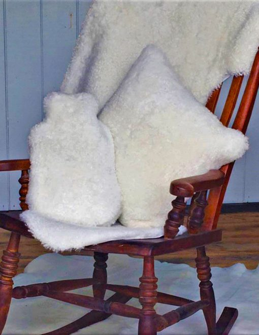 Owen Barry Ivory Luxurious Sheepskin Hot Water Bottle Cover 1