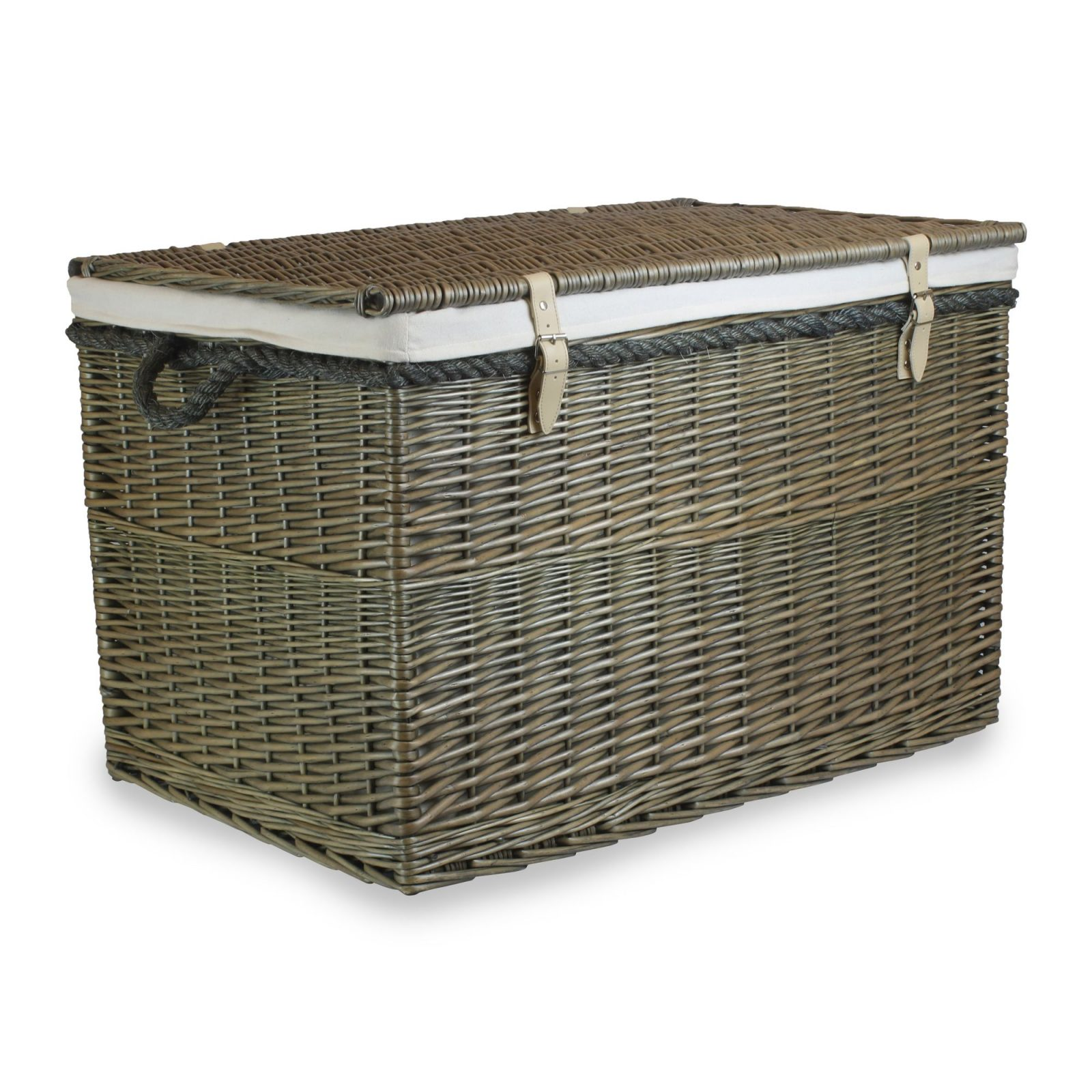 "EH094W Arbroath 29"" Large Wicker Storage Hamper 1 