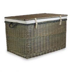 "EH090W Arbroath 29"" Large Wicker Storage Hamper 1 
