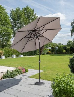 Cafe Continental Parasol Mouse Grey 2 | Avant Garden