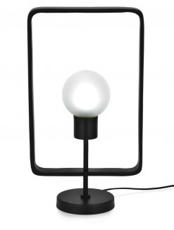 Edge Company Esti Table Lamp Rectangle 54cm Matt Black | Avant Garden Guernsey