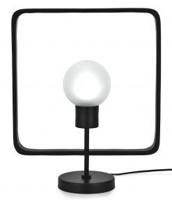 Edge Company Esti Table Lamp Square 48cm Matt Black | Avant Garden Guernsey