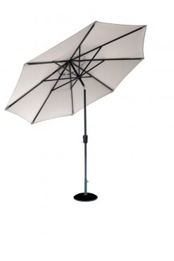 Cafe Continental Parasol Mouse Grey 2.2m