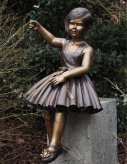 FIGI 56 Fine Cast Bronze Sculpture Flower Girl 1 Avant Garden Guernsey