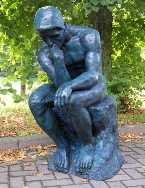 FIME 12 Fine Cast Bronze Sculpture Rodin The Thinker 120cm Avant Garden
