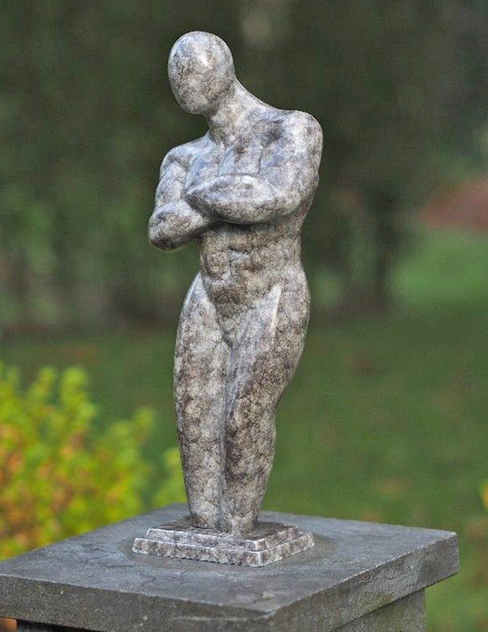 Bronze Sculpture Nouveau Nude Male 36cm