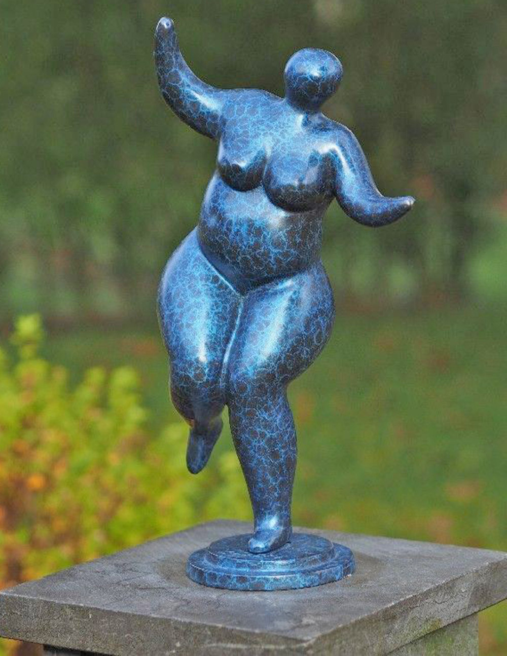 FIWO 47 Bronze Sculpture Nouveau Nude Lady Lets party 37cm | Avant Garden Guernsey