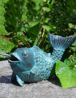 Fine Bronze Fountain Sculpture Fish Koi Carp Water Feature 2 | Avant Garden