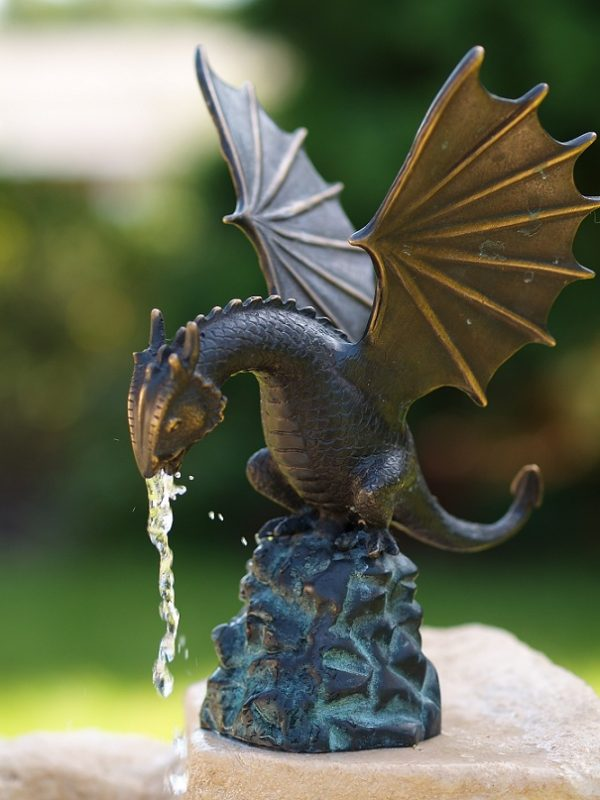 Dragon water feature bronze sculpture Christmas gift