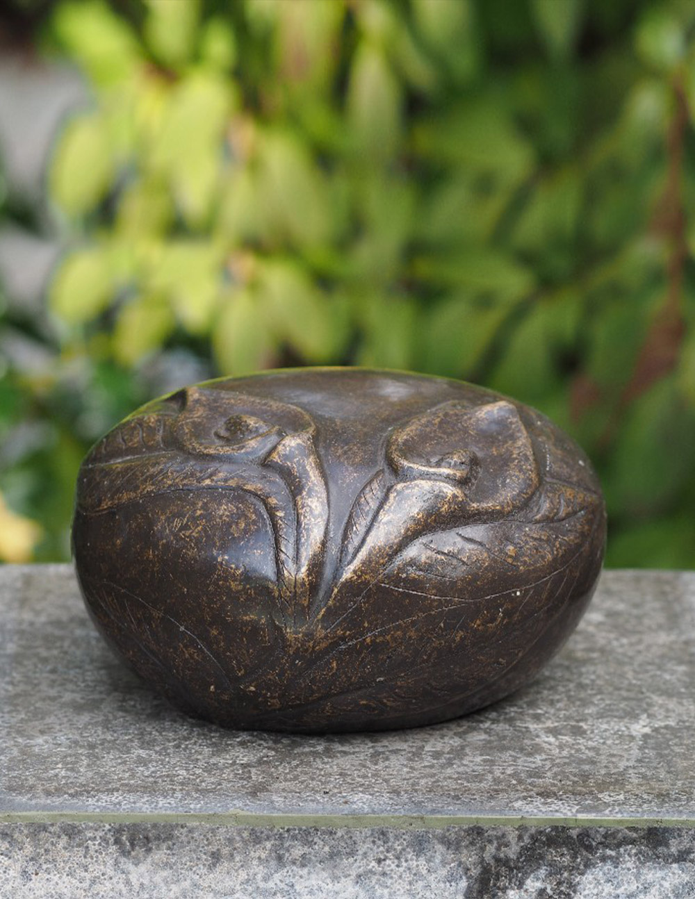 Cremation Urn Memorial Peace Lily Solid Bronze Sculpture Large