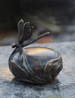 MESU 21 Cremation Urn Memorial Dragonfly Sculpture Mini Urn Solid Bronze | Avant Garden