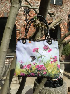 Vogue Hand Bag Flower & Butterfly