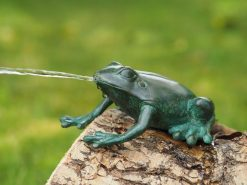 Bronze Sculpture Frog Fountain Head Down