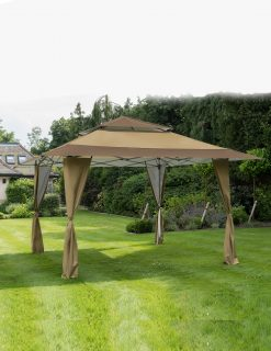 84800 Bellevue Easy Pop Up Alfreco Gazebo 4x4m Brown 2 | Avant Garden
