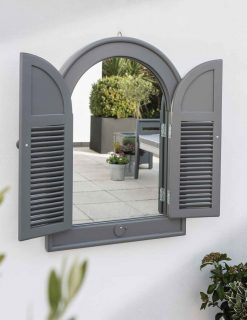 English Garden Range Outdoor Arch Mirror Greywash Grey Avant Garden