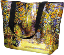 Tote Bag Large Garden at Vetheuil by Monet