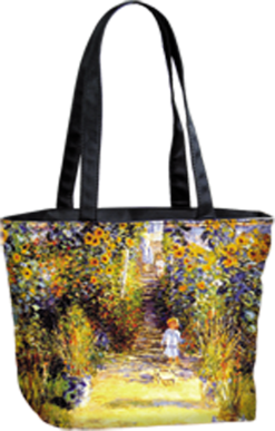 Tote Bag Small Garden at Vetheuil by Monet