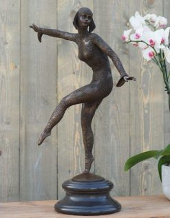 Fine Cast Bronze Sculpture Dancing Girl 66cm