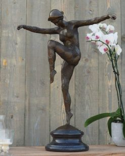 Fine Cast Bronze Sculpture Dancing Girl 69cm