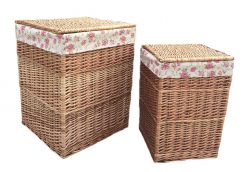 H095R Kilberry Laundry Basket Square set of two Square Natural 1 Avant Garden Guernsey