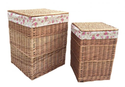 H095R Willow Direct Kilberry Laundry Basket Square Set Of Two Square Natural 1 Avant Garden Guernsey