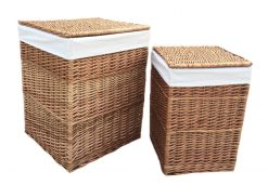H095W Willow Direct Laundry Basket set of two Square Natural Avant Garden Guernsey 1