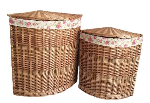 H096R Duffus Willow Linen Basket Corner Set Of Two Natural 1 Avant Garden Guernsey