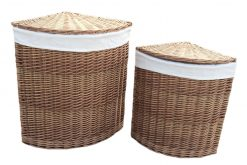 H096W Willow Direct Laundry Basket Corner set of two Natural 1 Avant Garden Guernsey