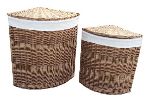 H096W Inverlair Willow Laundry Hamper Corner Set Of Two Natural 1 Avant Garden Guernsey