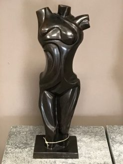 Fine Cast Bronze Sculpture Bust Modern Woman