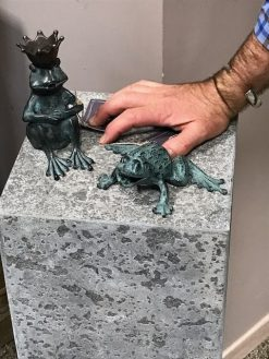 Fine Bronze Fountain Sculpture Frog Spitting Small