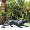 Fine Cast Bronze Sculpture Jaguar Prowler