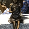 Fine Cast Bronze Fairy Statue with Butterfly Sculpture 3