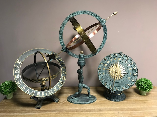 Armillary Sphere Sundial Collection Mix Solid Bronze 1 | Avant Garden
